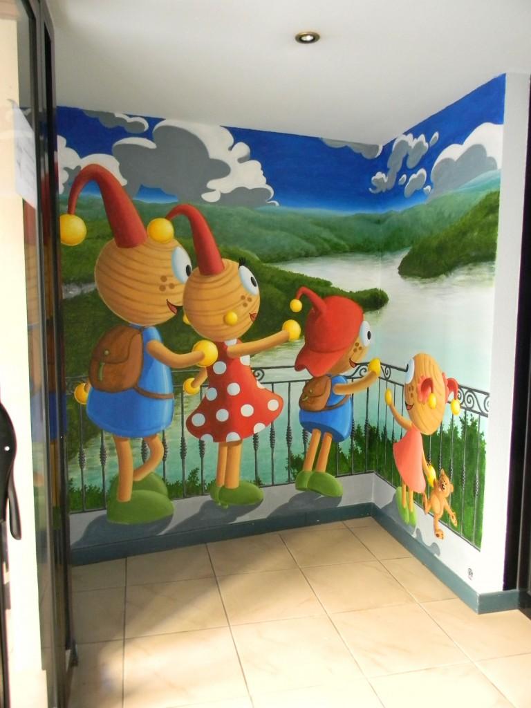 fresque murale hotel du Lacuzon à Moirans