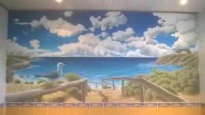 Fresque murale salle de bain - Acrylique - 300x150cm - 2015