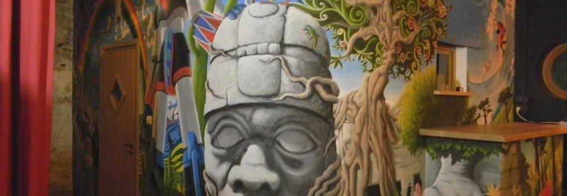 sylvano graphiste fresque murale ravilloles et saint-claude dans le jura