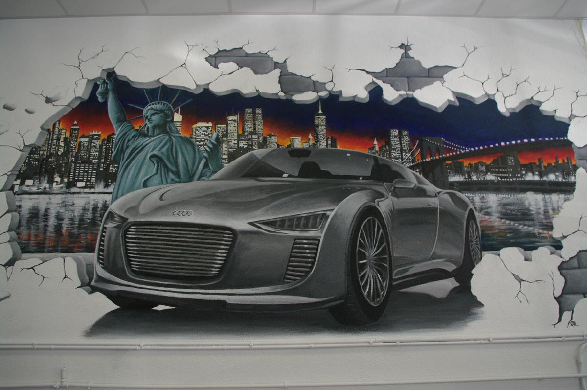 fresque clg automobiles audi e-tron carrosserie gomes saint-claude