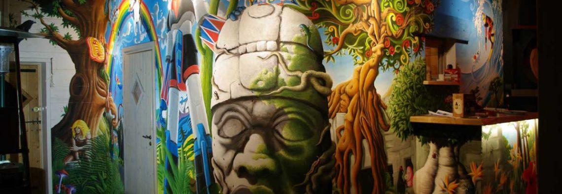 fresque psychedelique Goldorak Rahan