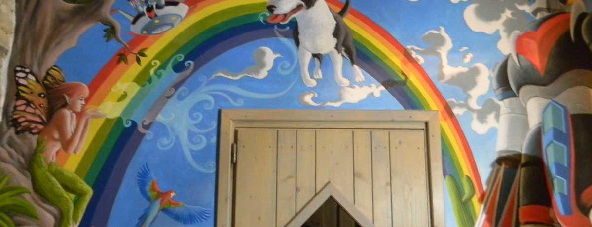 peinture murale psychedelique Ravilloles dans le Jura